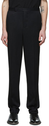 Haider Ackermann Black Narrow Waistband Trousers