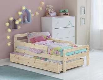 Argos Home Ellis Pine Toddler Bed, Drawer & Kids Mattress