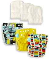 Charlie Banana 9-Piece Patented Reusable One Size Diapers in Artist