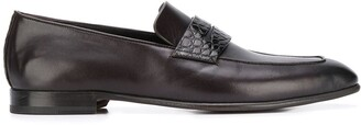 Ermenegildo Zegna Crocodile-Effect Penny Loafers