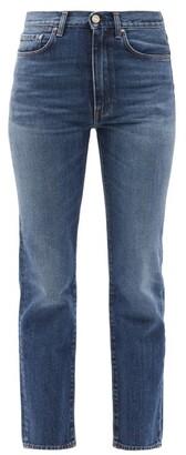 Totême Studio Cropped Straight-leg Jeans - Mid Blue