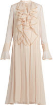 See by Chloe Ruffle-trimmed crépon maxi dress