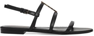 Saint Laurent 10mm Cassandra Leather Sandals