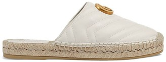 Gucci White Double G Leather espadrille