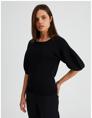 Basque Knit Top