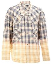 Faith Connexion low collar checked shirt