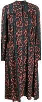 Calvin Klein snakeskin print shirt dress