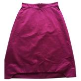 Saint Laurent Pink Cotton Skirt
