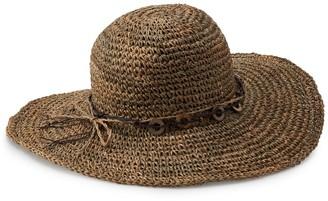 Scala Women's Crochet Floppy Hat