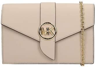 Michael Kors Shoulder Bag In Beige Leather