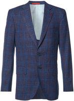 Isaia checked blazer - men - Silk/Linen/Flax/Cupro/Wool - 46