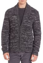 Vince Yak & Wool Blend Zippered Cardigan
