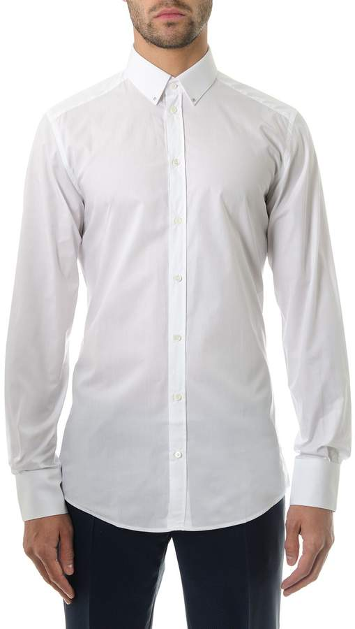 Dolce & Gabbana White Cotton Slim Shirt
