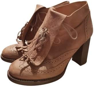 Brunello Cucinelli Beige Leather Lace ups
