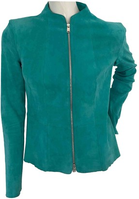 Jitrois Turquoise Leather Jackets