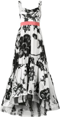 Silvia Tcherassi Elvira abstract-print gown