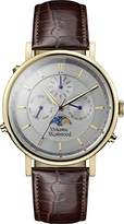 Vivienne Westwood Men's Quartz Watch with Silver Dial Analogue Display and Brown Leather Bracelet VV164CHBR