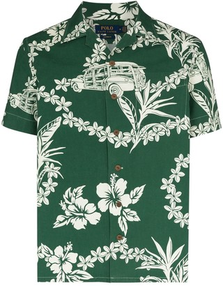 Polo Ralph Lauren Tropical-Print Poplin Shirt