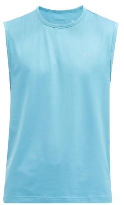 Calvin Klein Logo-print Jersey Tank Top - Blue