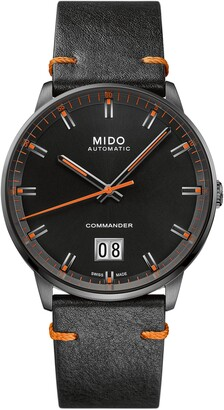 MIDO Commander Big Date Automatic Leather Strap Watch, 42mm