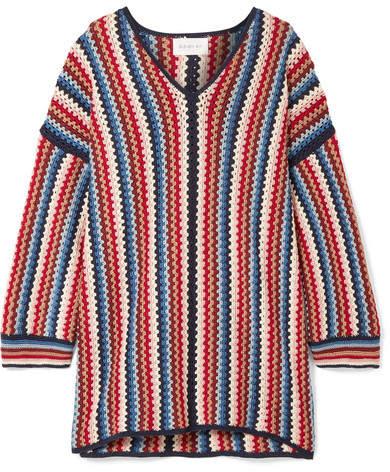 Eleven Paris SIX - Marlina Crocheted Pima Cotton Tunic - Red