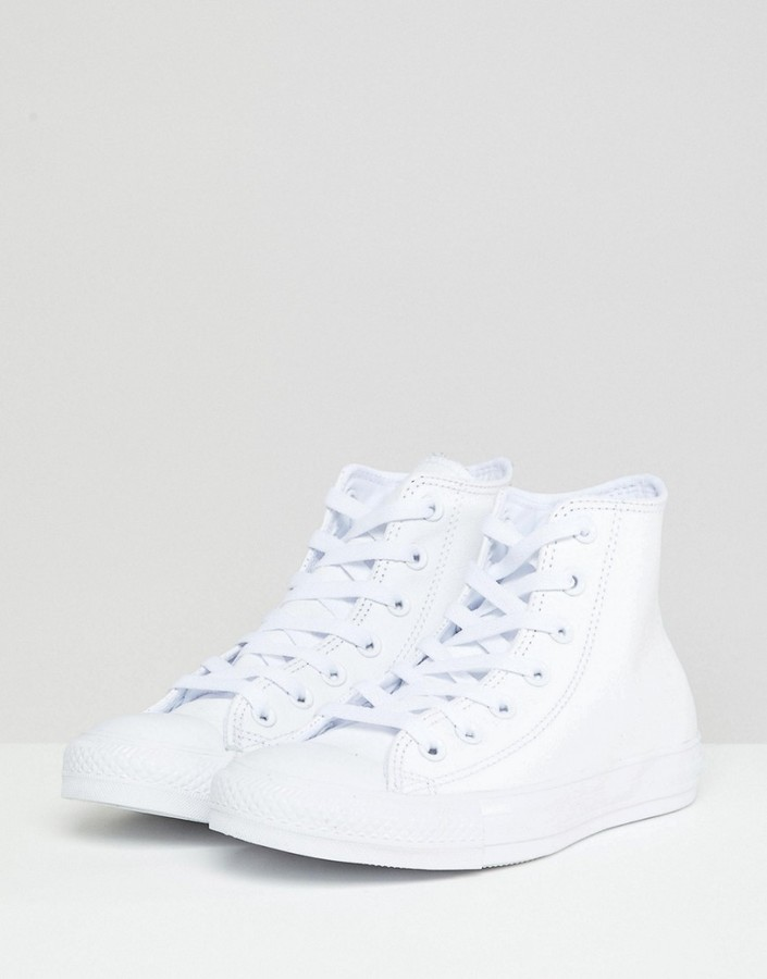 Converse White Leather Chuck Taylor