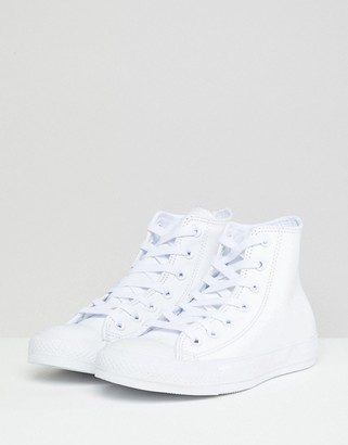 Converse Chuck Taylor White Leather High Top Sneakers