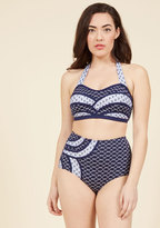 High Dive by ModCloth Set the Serene Swimsuit Top in Shells in 4X