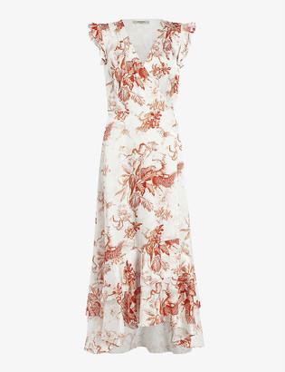 AllSaints Dela Riyaz satin-silk midi dress