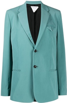 Bottega Veneta Stitch Detail Single-Breasted Blazer