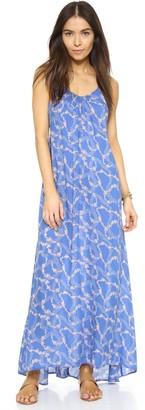 Wildfox Couture Women's Margarette Maxi Floral Swim Dress Blue Size M