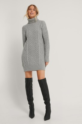 Trendyol High Neck Knit Dress