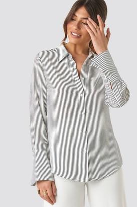 NA-KD Wide Cuff Striped Shirt