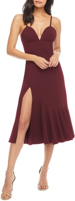 Dress the Population Marilyn Slit Midi Dress