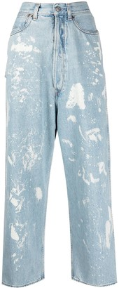 Golden Goose Paint-Splattered Straight-Leg Jeans