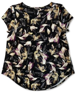 Alfani Plus Size Floral-Print T-Shirt, Created for Macy's