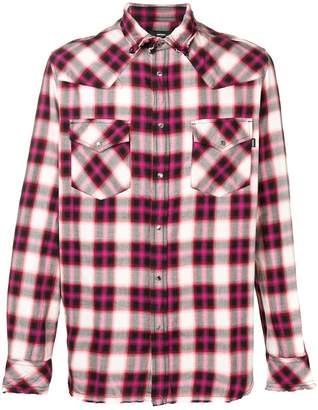 Diesel plaid button-up shirt