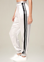 Bebe Metallic Parachute Pants
