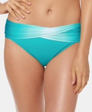 BLEU by Rod Beattie Ombre Foldover Bikini Bottoms Women's Swimsuit