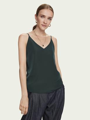 Scotch & Soda Cotton-blend V-neck spaghetti strap tank top   Women