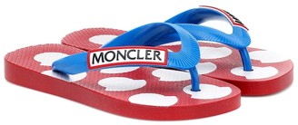 Moncler Enfant Logo thong sandals