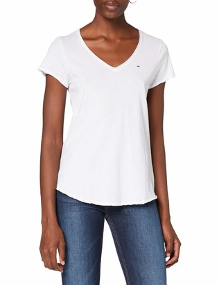 Tommy Jeans Women's TJW Essential V Neck TEE PC T-Shirt