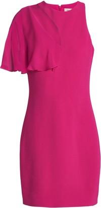 Cushnie Cutout Chiffon-paneled Stretch-crepe Mini Dress