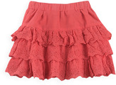 Pumpkin Patch Embroidered Multi Tiered Skirt