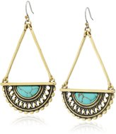 Lucky Brand Turquoise and Open Work Drop Earrings