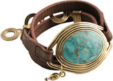 ARTSMITH BY BARSE Art Smith by BARSE Turquoise Leather Wrap Bracelet