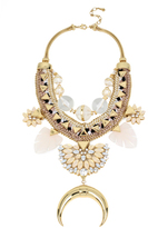 Charm & Chain Collection Eldorado Statement Necklace, White