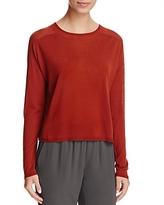 Eileen Fisher Petites Semi-Sheer Cropped Sweater