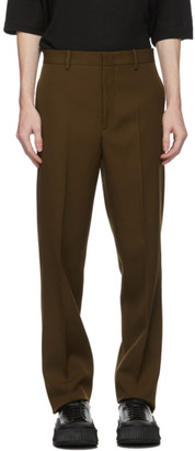 Jil Sander Khaki Wool Trousers