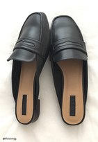 Forever 21 FOREVER 21+ Faux Leather Loafer Mules